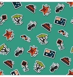 Australia set pattern vector