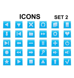 blue square icons vector image vector image