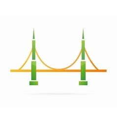 Bridge logo symbol concept vector image