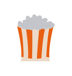 Bucket pop corn food celebration party vector