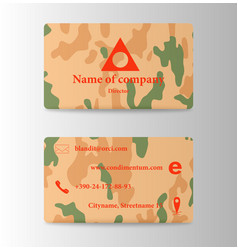business and visit card vector image vector image