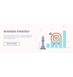 Business strategy horizontal banner vector image