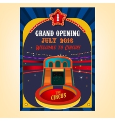 Circus poster image vector