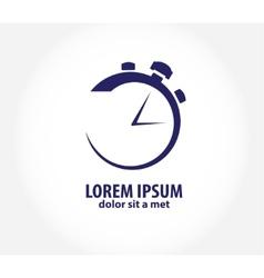 clock time company logo design business vector image