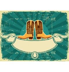 cowboy boots card vector image vector image