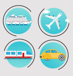Different types of transportation business vector