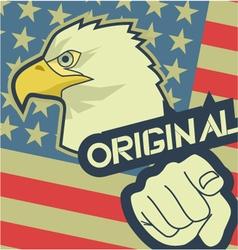 Eagle original america vector image vector image