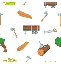 Firewood pattern cartoon style vector