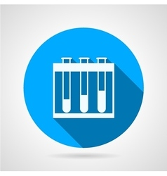 Flat round icon for test-tubes vector image