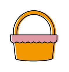 food basket picnic vector image