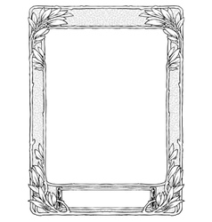 frame with laurel for portrait black isolated vector image vector image