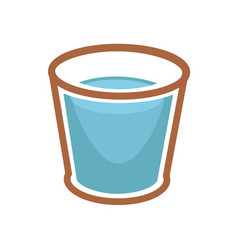 Glass of blue water vector