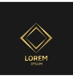 Golden business logo vector