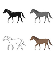 Horse icon in cartoon style isolated on white vector