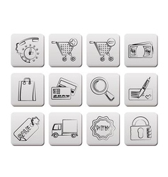 Internet icons for online shop vector