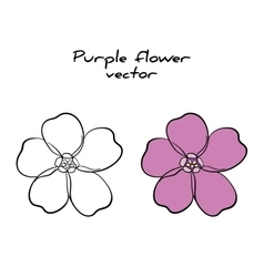 Isolated Purple Flower vector image vector image