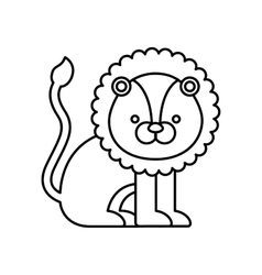 lion cute animal icon vector image vector image