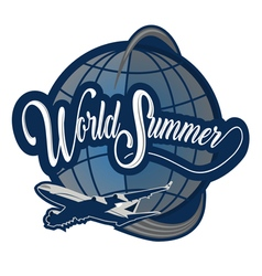 Logo world summer vector