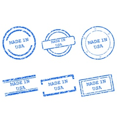 Made in USA stamps vector image
