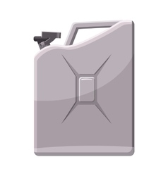 Metalic jerrycan icon cartoon style vector image
