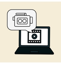 Movie icon and technology design vector