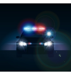 Police car at night vector image