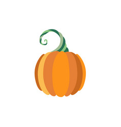 Pumpkin flat icon isolated vector