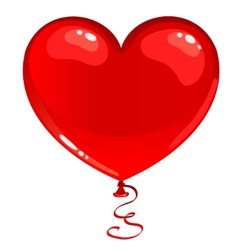 red balloon heart vector image vector image