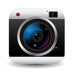 Retro camera icon vector