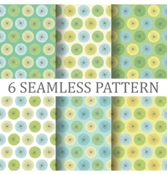 Set of Six Floral Seamless Patterns vector image vector image