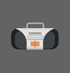 Tape recorder icon modern audio system vector