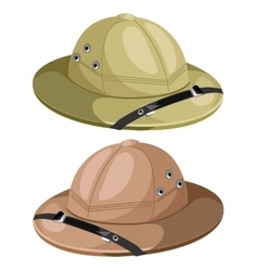 Two classic mens hunting hat image vector