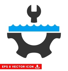 Water service gear eps icon vector