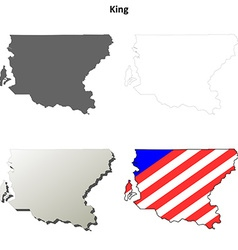 King map icon set vector