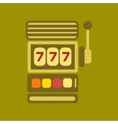 Flat icon on stylish background slot machine vector