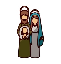 Mary joseph and jesus of holy night design vector