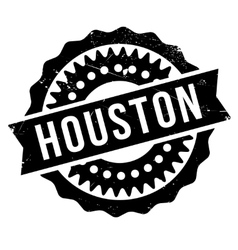 Houston stamp rubber grunge vector image