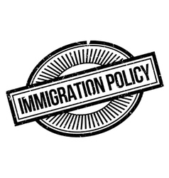 Immigration policy rubber stamp vector