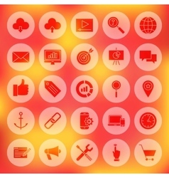 Solid circle web development icons vector