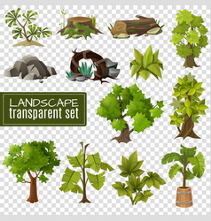Landscape design elements set vector