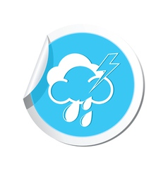 Weather forecast clouds lighting raindrop icon vector