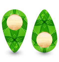 Eco friendly wooden icon for web design vector image