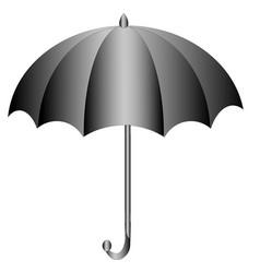 Black umbrella vector