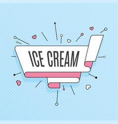 Ice cream retro design element in pop art style vector
