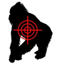 Gorilla crosslines vector image