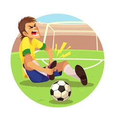 Injured soccer player vector