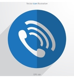 Phone handse web flat icon vector