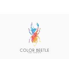 Beetle logo color beetle logo design creative vector