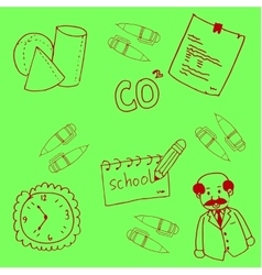 Hand draw school doodles art vector