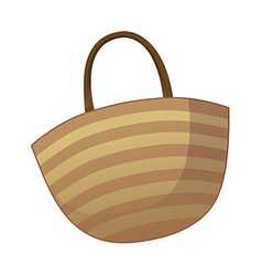 A view of basket vector image vector image